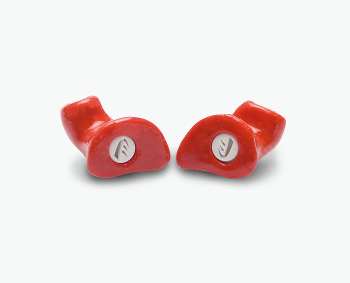 Hearing protection: Red ear plugs