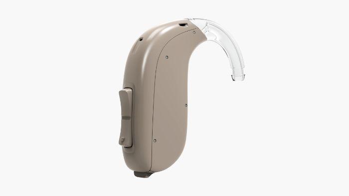 BTE beige grey hearing aid